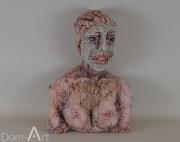 Anne BOTHUON - Le masque d'argile - hauteur 47 cm