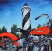 Duran - Andy's bike in Contis - 120 x 120 cm