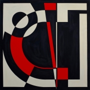 Jean-Luc FEUGEAS - Two colours Theorem VI - 140 x 140 cm