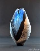 Pascal LEMOINE - Vase bleu - hauteur 38 cm - vendu