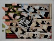 POUECH - Huile sur bois - 53 x 70 cm