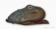 Jean FONTAINE - Mérou de Secours - Bronze longueur 65 cm