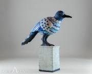 Do Nogues - Oiseau bleu sur socle - hauteur 40 cm - Vendu