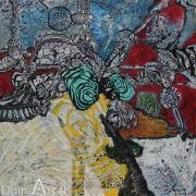 CAVADORE - papier marouflé sur toile - 10063 - 50 x 50 cm