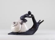 Do Nogues - Escargot chevauché - hauteur 17 cm