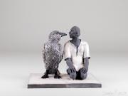 Do Nogues - L'homme et l'oiseau - hauteur 15 cm - vendu