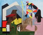 Jean-Luc FEUGEAS -  la chambe de la rue de la porte de la monnaie - 120 x 150 cm