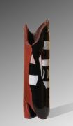 Nad Vallée - Totem - bullseye / grès - 37 x 10 cm