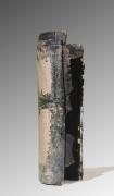 Totem - verre / grès - 45 x 13 cm