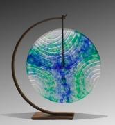 Nad Vallée - Gong Marquisienne - cristal 40 cm - support acier patiné 54 x 47 cm