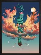 Olivier Bonhomme - Ruban bleu - technique mixte, tirage unique sur dibond - 56 x 76 cm