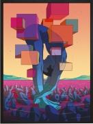 Olivier Bonhomme - Limbes - technique mixte, tirage unique sur dibond - 74 x 110 cm