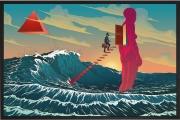 Olivier Bonhomme - Le passage - technique mixte, tirage unique sur dibond - 153 x 90 cm