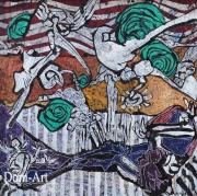 Cavadore - 100612 - 50 x 50 cm- acrylique sur papier marouflé sur toile - encadré