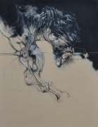 Salanié - acrylique et pastel sur toile - 146 x 114 cm