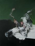 Salanié - acrylique et pastel sur toile 130 x 97 cm