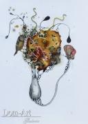 Gaiss - Chrysalide  - 41 x 30 cm technique mixte sur papier 2013 - encadré sous verre